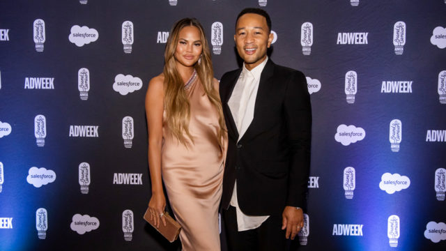 chrissy teigen and john legend at brandweek