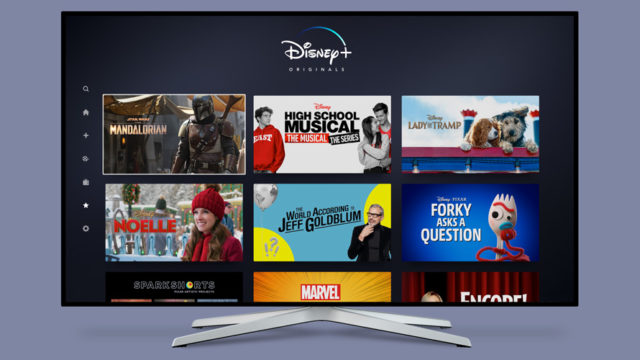 A tv showing disney+ originals
