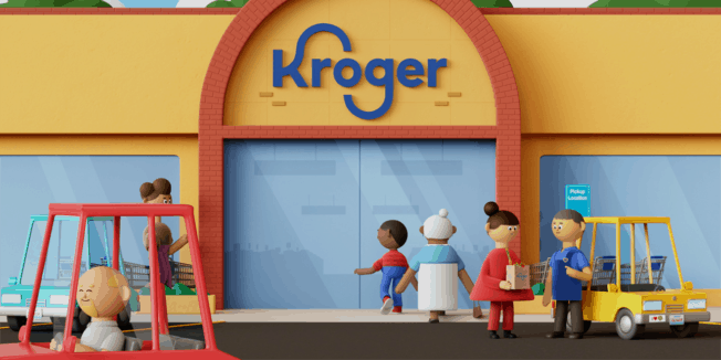 a claymation-style ad for Kroger