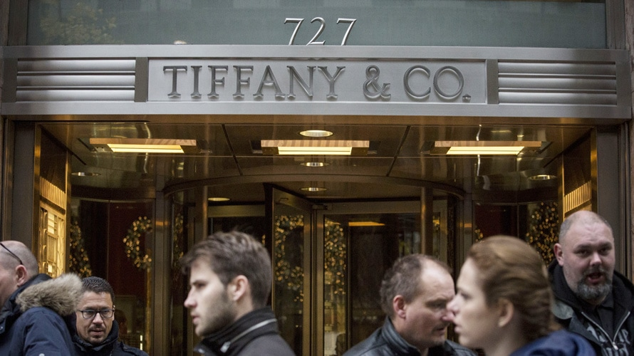 the storefront of tiffany & co. in new york city
