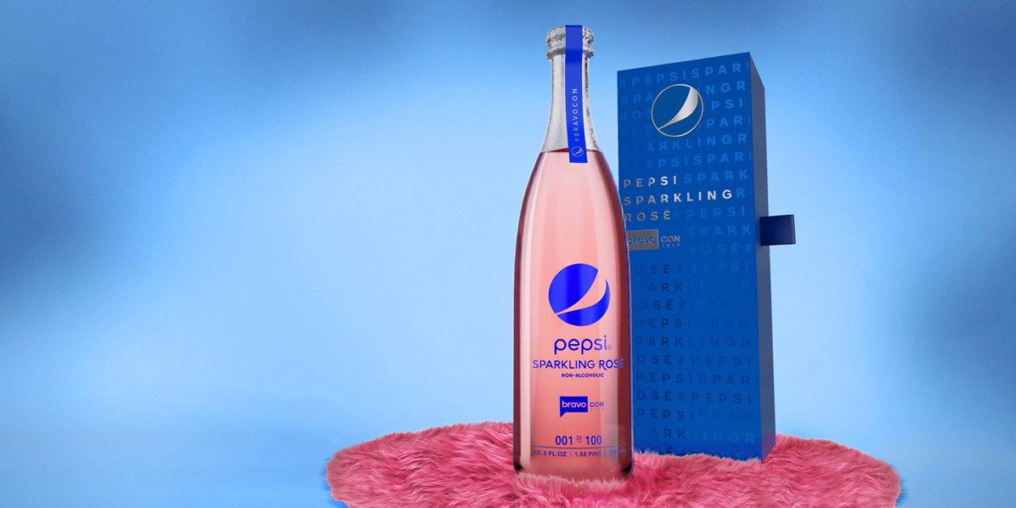 Studio shot of Pepsi sparkling rosé