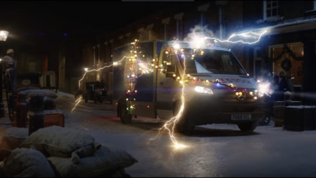 Tesco Driver Careens Through History Delivering Groceries in Centennial Holiday Ad