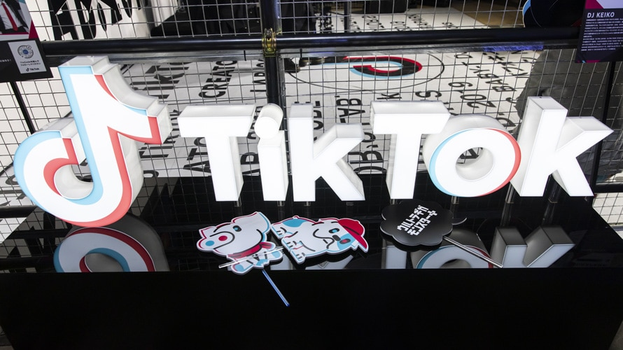 TikTok Signage with small dog and pig signage