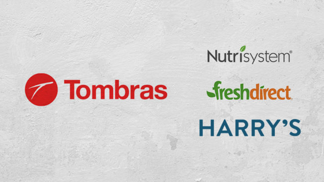 logos of tombras agency and its clients nutrisystem freshdirect and harry's