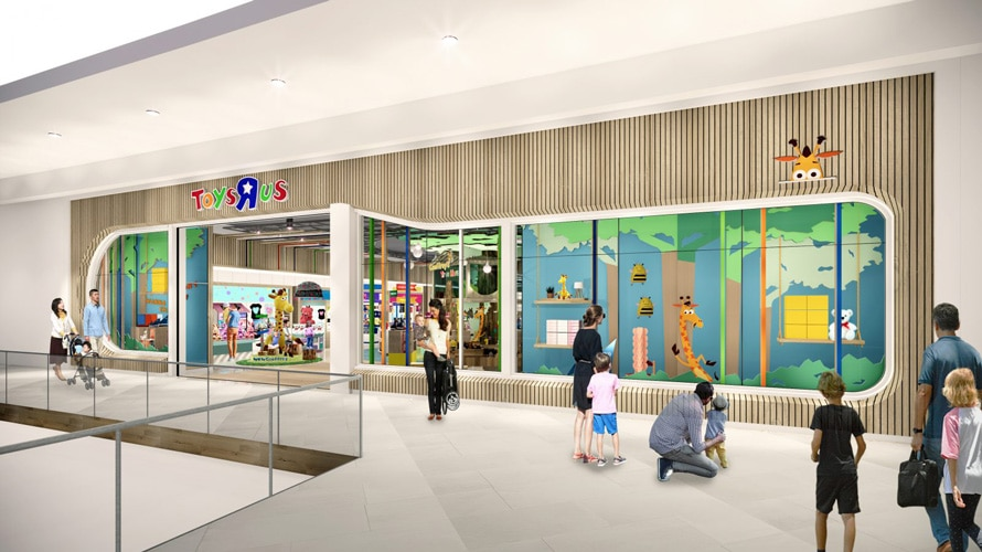 Rendering of Toys R Us experimental store