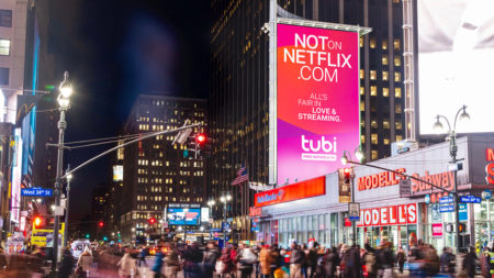 Tubi Campaign in New York Penn Station