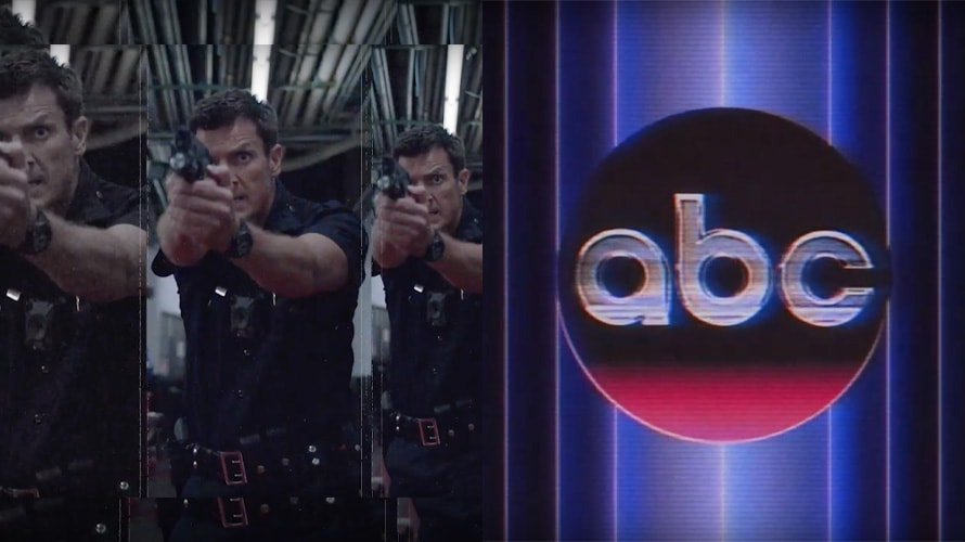 Side by side of a still from ABC promo and abc 70