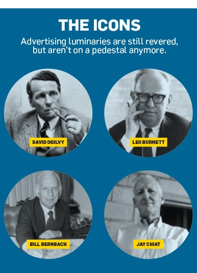 headshots of Leo Burnett, Bill Bernbach, Jay Chiat and david ogilvy