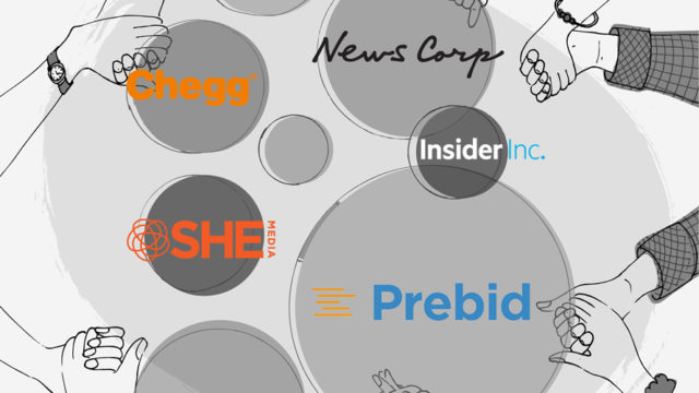 a collage of company logos who are members of Prebid
