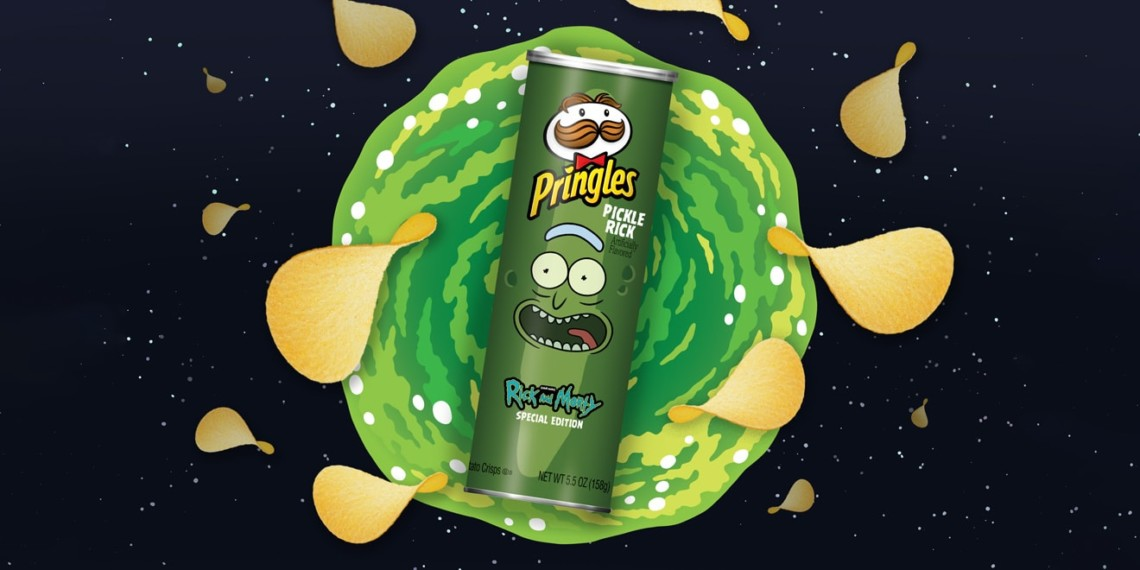 Pickle Rick Pringles are the first of three Rick and Morty-themed flavors that'll be released throughout the year.