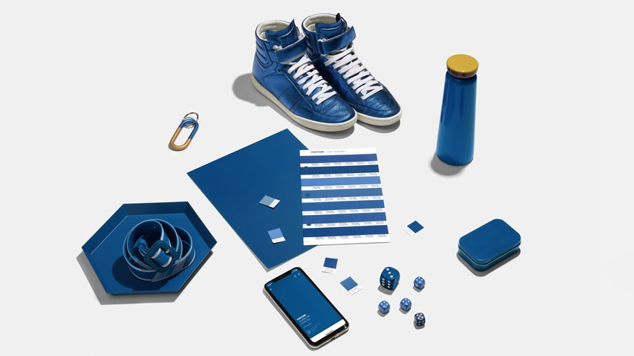 Pantone color of the year on products like shoes, water bottle, dice, paper, belt, etc.