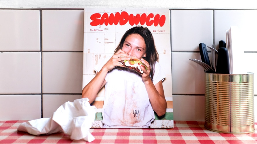 the first issue of sandwich magazine