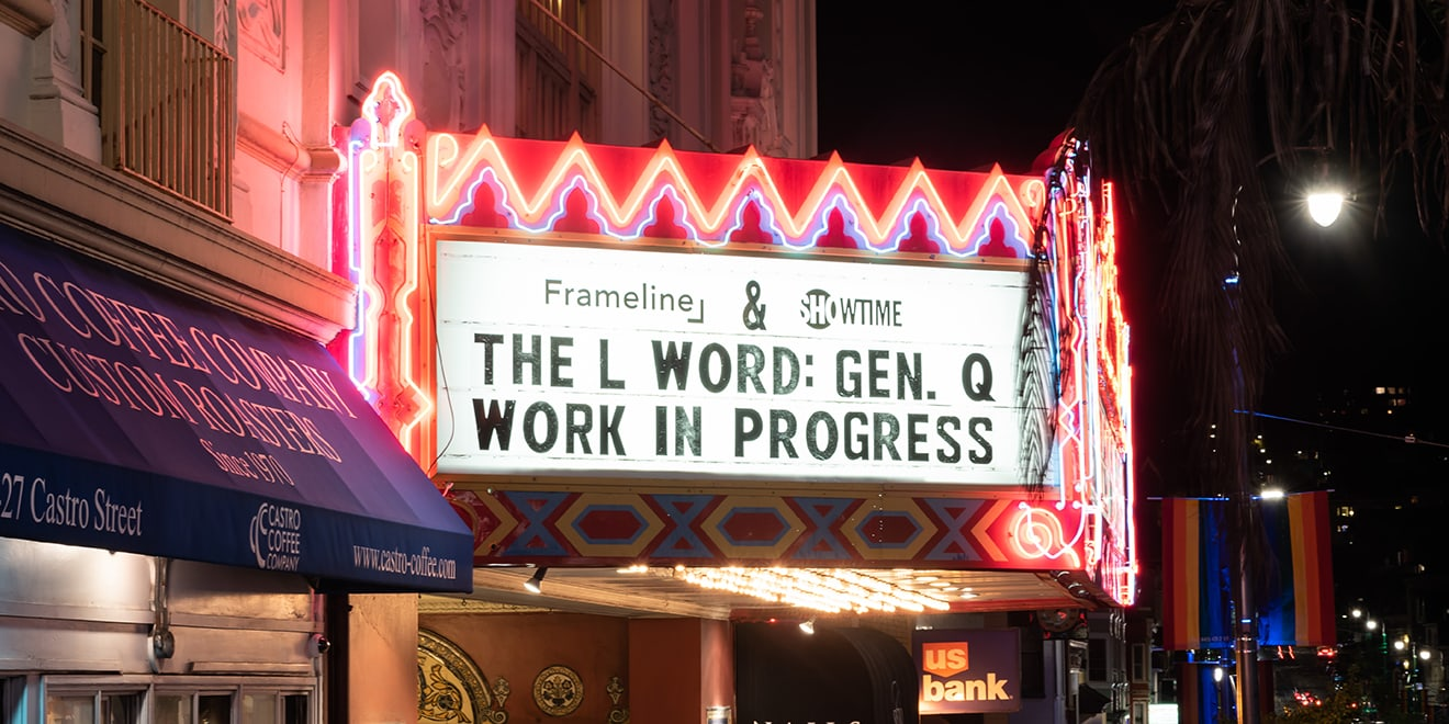 a theater marquee for a screening of the l word reboot series