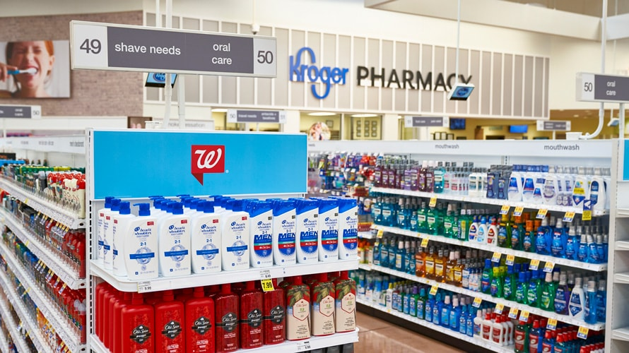 Walgreens and Kroger store interior