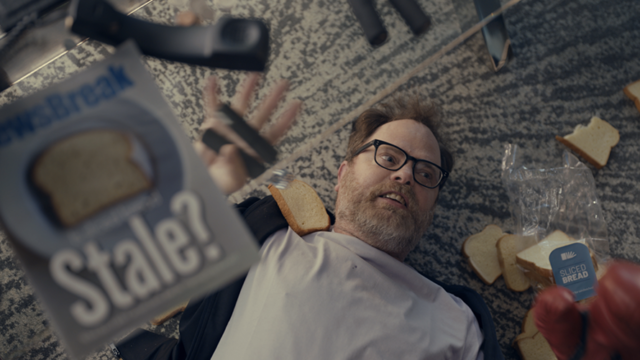 Rainn Wilson Lies in States of Disarray and Denial for Little Caesars' Super Bowl Teasers