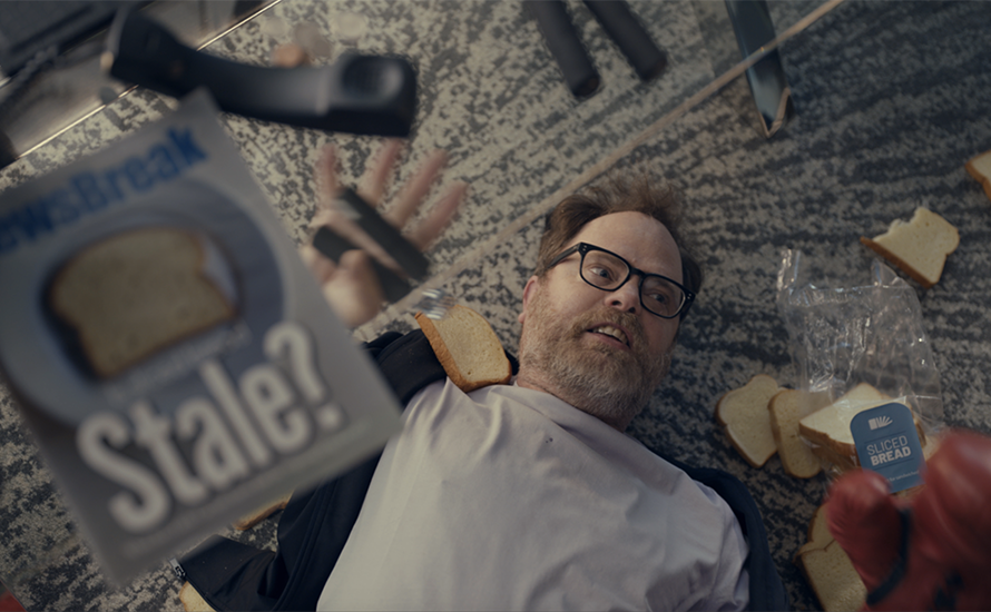 Rainn Wilson, better known as Dwight Schrute from The Office, stars in the ad.