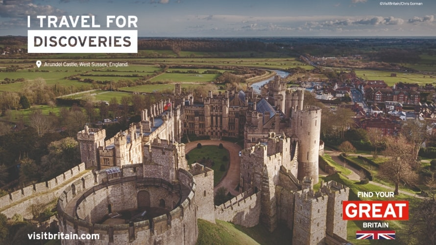 a visit britain ad featuring a castle
