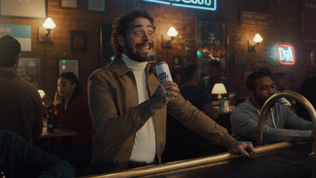 Post Malone in a Bud Light Seltzer ad