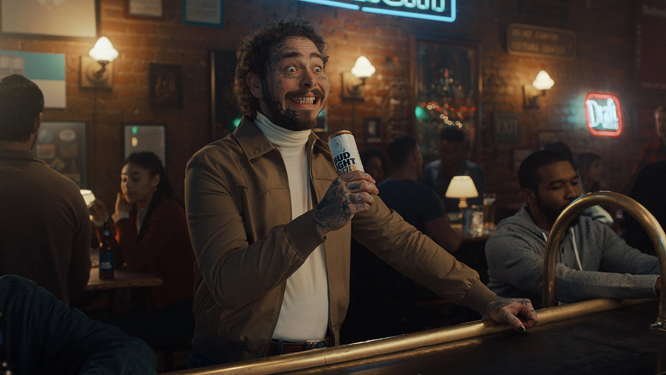 Bud Light Opens Post Malone S Mind To The World Of Seltzer In Its Super Bowl Ad