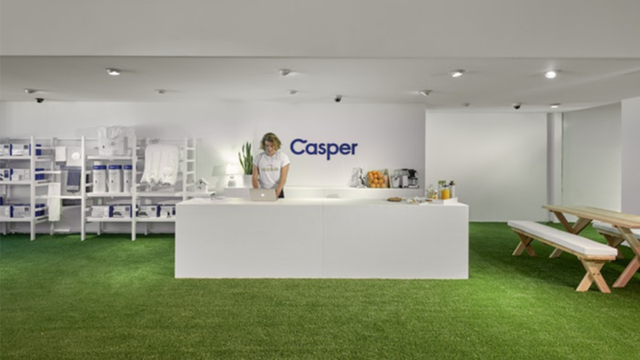 a casper mattress showroom