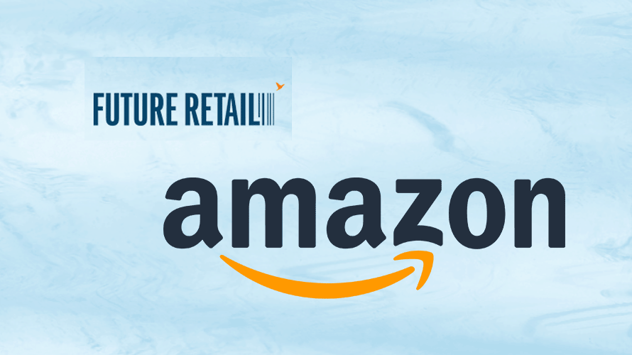 amazon and future retail logos