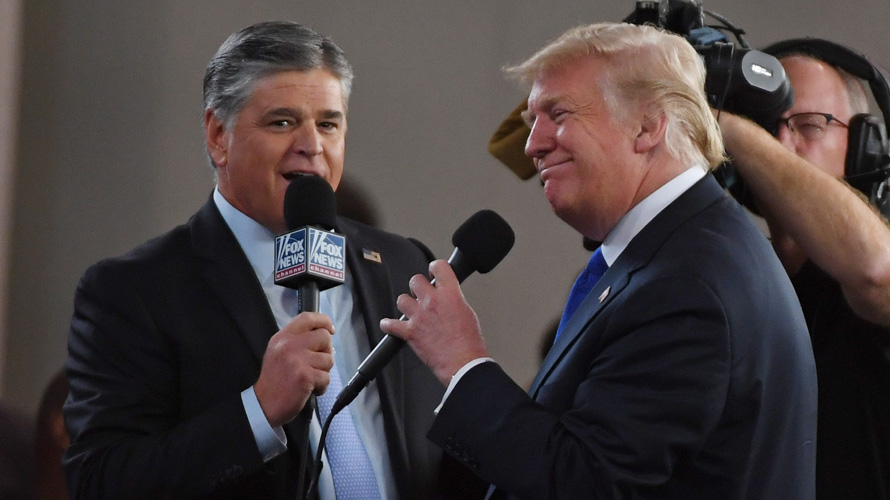 Sean Hannity interviewing Donald Trump