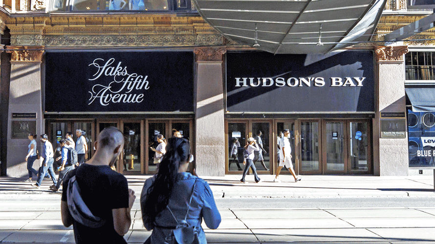 Saks fifth avenue, and Hudson