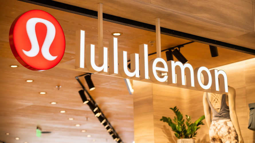 a lululemon sign