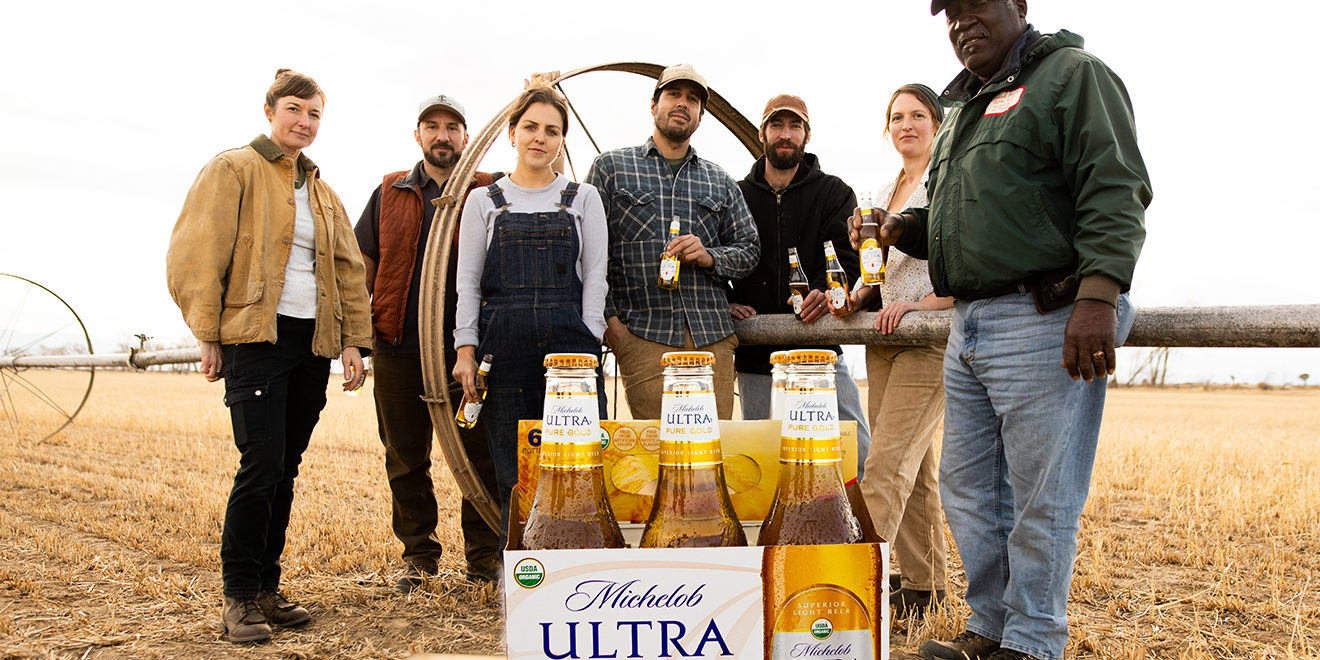 Farmers with Michelob Ultra Pure Gold