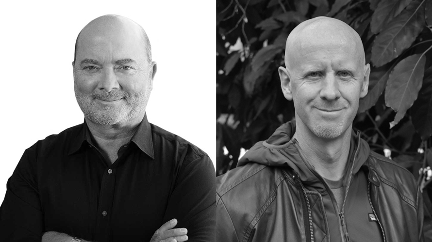John Gentry (left) replaces Tim Cadogan (right) as CEO.