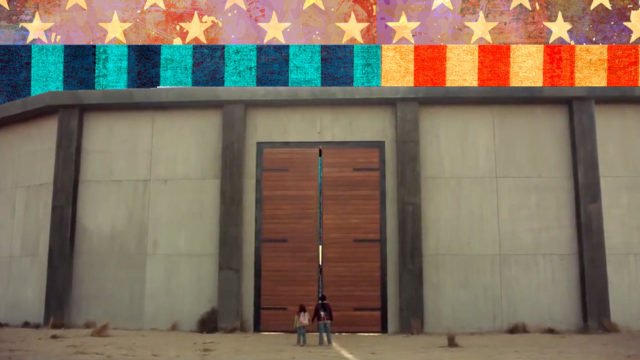 a door in the wall along the US border with Mexico