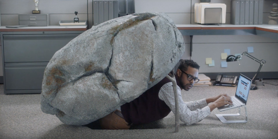 People might be living (and working) under a rock if they haven