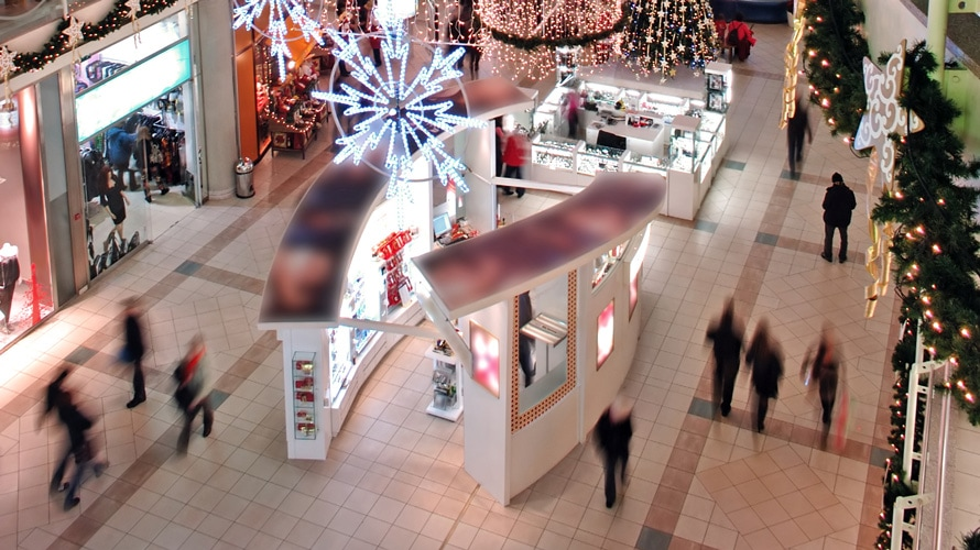 mall holiday shopping