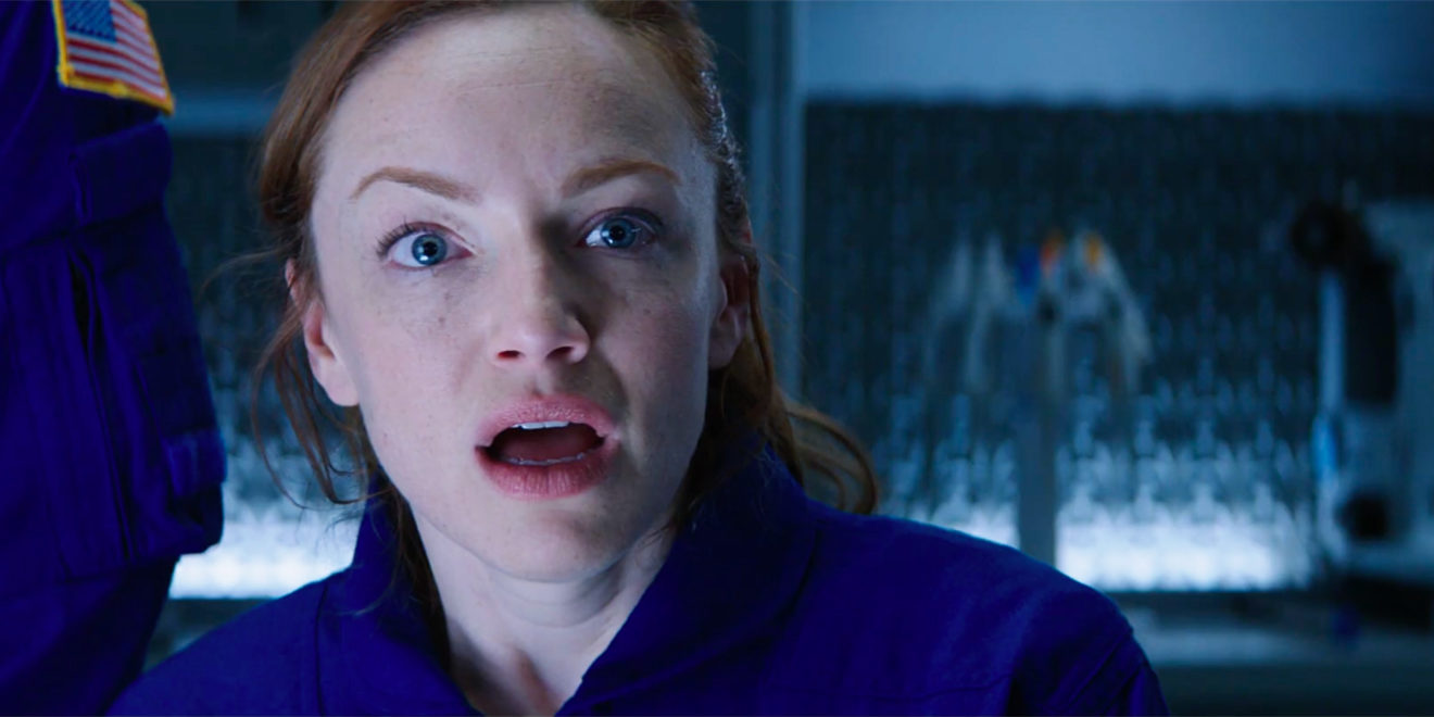 An astronaut reacts in surprise in SodaStream's Super Bowl ad