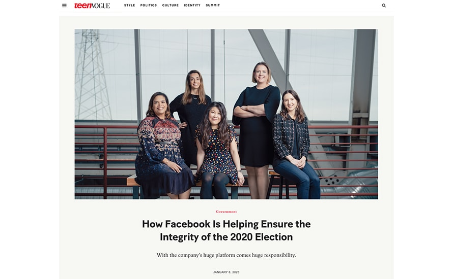 Teen Vogue Flounders With Apparent Sponsored Content From Facebook