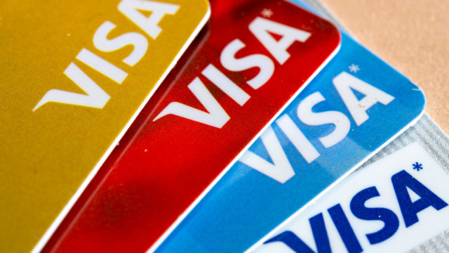 a fan of visa credit cards