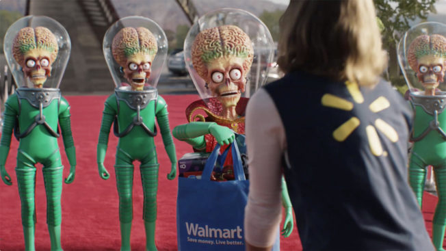 Galactic characters play a role in the Big Game ad for the big box retailer.
