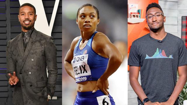 Photos of Michael B. Jordan, Allyson Felix and Marques Brownlee