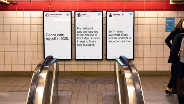 Twitter's Newest Out-of-Home Campaign Looks at Love as Valentine's Day Nears