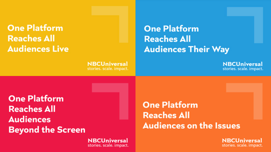 A mashup of NBCUniversal's One Platform ads