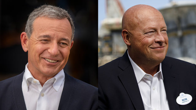 Bob Iger is transitioning to Disney executive chairman immediately, with Bob Chapek stepping in as CEO.
