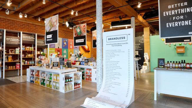 Brandless started off by selling goods for $3 each.
