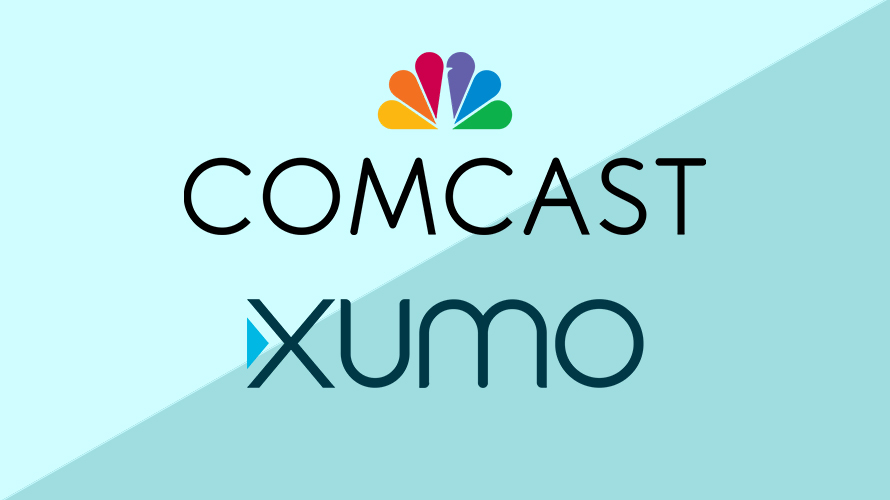 comcast and xumo logos