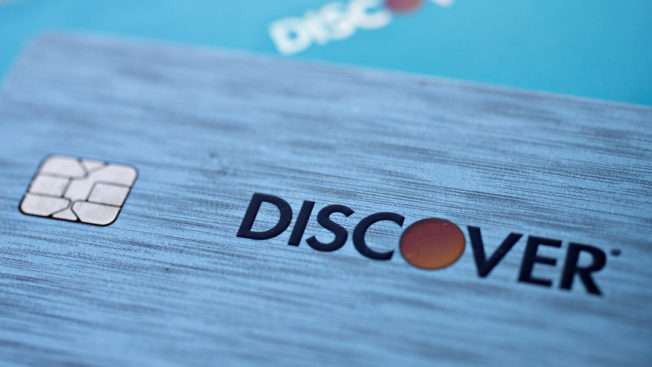 An image of a Discover card