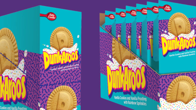 Two boxes of Dunkaroos next to one another