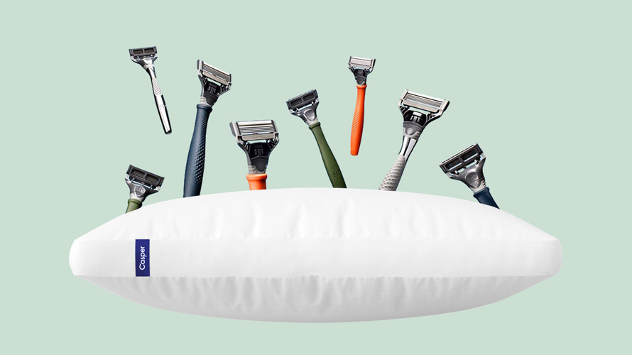 razors and pillows