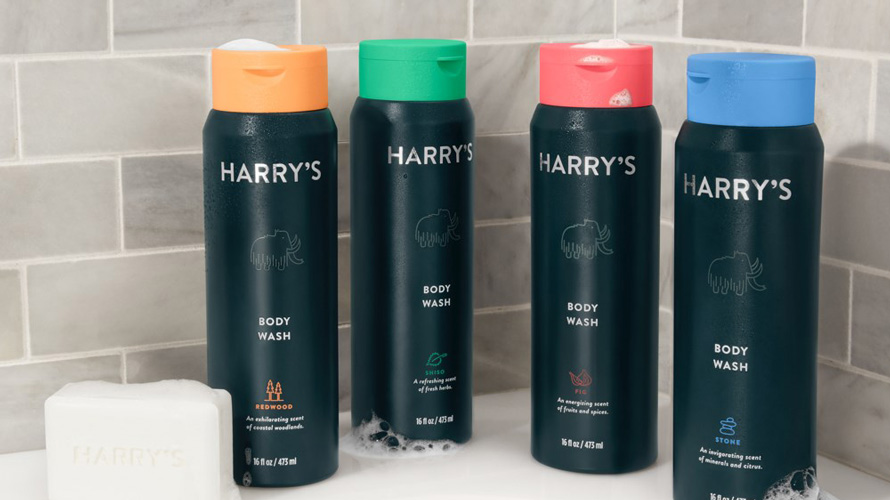 bottles of Harry's shampoo