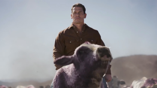 John Cena and a Herd of Talking Purple Cows Ride to a Car Buyer's Rescue for Experian