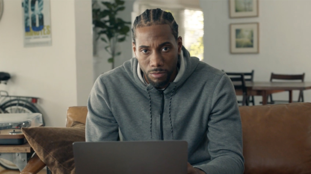 Stone-Faced NBA Superstar Kawhi Leonard Shows Some Personality Promoting Couponing Tech Honey