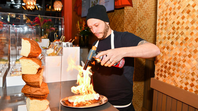 Chef Jaime Young created three signature dishes for the pop-up, including coconut s'mores French toast.